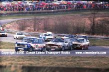 Mini (Longman) VW( Lloyd) Celica(Brundle). Photo. Oulton RAC Saloons (BTCC) 28 Mar 1978